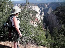 Brenda ready to descend into adventure at Mystery Canyon in Zion ...