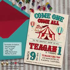 Carnival Birthday Invitations Vintage Circus Carnival Birthday Party Diy Invitations