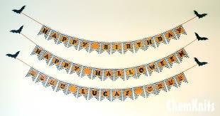 Chemknits Pumpkin Chevron Birthday Banner Free Printable