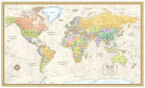 massive world map poster new giant laminated valid