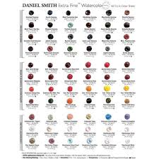 Daniel Smith Watercolor Dot Chart 66 Colors Daniel Smith Extra Fine Watercolor Dot Chart