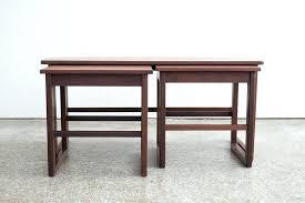 nesting coffee table mid century round set hammary
