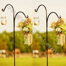 garden shepherd hooks. wedding decorative offset shepherd hook with flower bottle garden hooks s