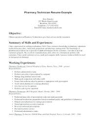 Pharmacist Resume Objective Sample Examples Of Pharmacy Technician Resumes Download Pharmacy 38