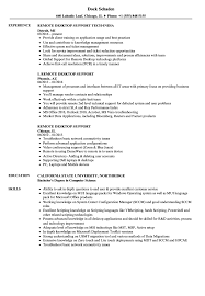 Download Remote Desktop Support Resume Sample as Image file