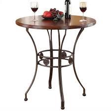 acme furniture tavio bar height table in walnut and dark bronze