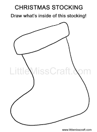 Small Picture Crafts Christmas Stocking Doodle Coloring Page