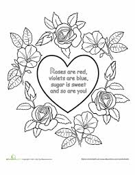 Small Picture Roses are Red Nursery Rhyme Coloring Page Red nursery
