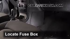 interior fuse box location chevrolet hhr  interior fuse box location 2006 2011 chevrolet hhr 2009 chevrolet hhr ls 2 2l 4 cyl flexfuel