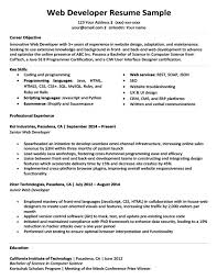 professional software engineer resumes web developer resume sample writing tips resume companion