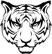 tiger face clipart black and white. Unique Black Tiger Head Line Drawing At GetDrawingscom  Free For Personal Use  Intended Face Clipart Black And White C