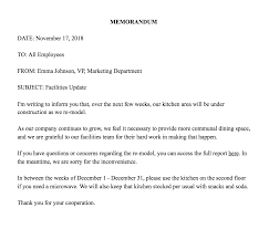 Company Memo Template How To Write A Memo Template Examples