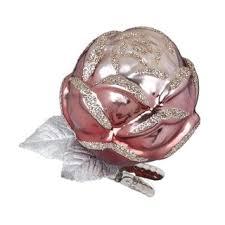 Inge Glas Rose Christbaumschmuck 7cm Glas