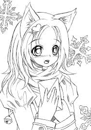 Small Picture 12 Pics Of Anime Cat Girl Warrior Coloring Pages Anime Warrior