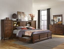 Bookcase Bedroom Furniture Furniture Wolf Creek 5 Piece Bookcase Bedroom Set With Storage In