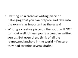 how to write a belonging creative writing 3