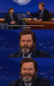 Nick Offerman's Menacing Look | WeKnowMemes via Relatably.com