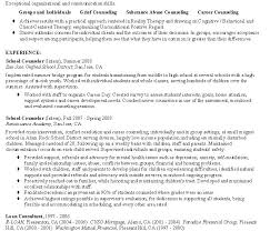Sample Resume For School Counselor Elementary School Guidance Counselor Resume Sample Counseling