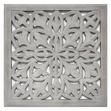 carved wood panel 18x18 white home pinterest carved wood intended for awesome household gray wood wall decor designs on iron and wood panel wall art in white with hammered metal wood wall art westelm i need this over my bed