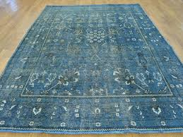 surprising ideas blue overdyed rug delightful decoration 65 x 9 denim blue overdyed persian tabriz worn