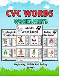 Live worksheets > english > phonics > cvc words. Amazon Com Cvc Words Worksheets Cvc Words Workbook For Beginning Middle And Ending Sounds Phonics Worksheet Book 9798582038917 Bom Lamaa Books