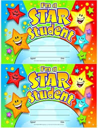 Star Student Certificates Star Student Certificate Classroom