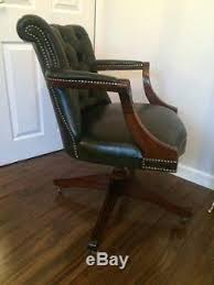 green leather office chair. Green Leather Chesterfield Captains Chair Bespoke Office Free Uk P\u0026p