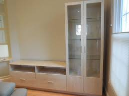 l shaped wall unit in ash matte with