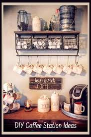 This coffee bar also has a small tips can for a playful touch. Diy Coffee Station Ideas Build The Most Awesome Home Coffee Bar