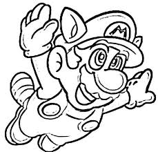 Mario Brothers Coloring Pages Super Mario Brothers Coloring