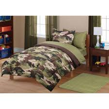 mainstays kids camoflauge coordinated bedding set army on purple comforters sets king size twin targ