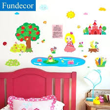 childrens wall stickers cartoon frog prince wall stickers for kids rooms girls bedroom baby rooms baby