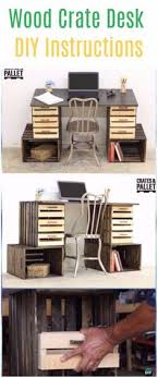wood crate furniture diy. diy wood crate desk instructions furniture ideas projects diy