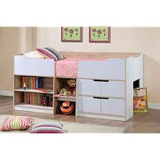 kids beds with storage. Delighful With Happy Beds Paddington Cabin Bed Wooden White And Oak Storage Drawers Kids  Children Frame 3u0027 To With N