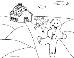 Gingerbread Men Coloring Pages Man House Book
