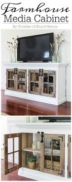 diy furniture makeover. 5. Farmhouse Media Cabinet Free Plan Diy Furniture Makeover