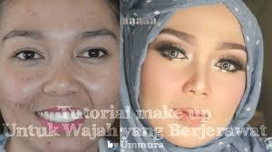 tutorial make up untuk kulit berjerawat ummura