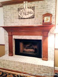 how to clean the inside of a brick fireplace how to whitewash bricks using chalk paint