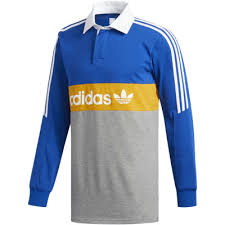 adidas heritage polo shirt collegiate royal core heather tactile yellow white