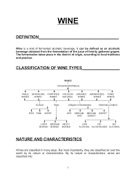 White Wine Chart Sweet To Dry F B Service Notes For 2nd Year Hotel Management Students
