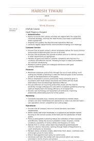 chef de cuisine resume samples sample resume for chef