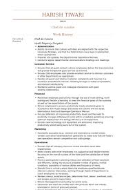 Chef De Cuisine Resume samples