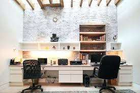 home office wall color. Home Office Wall Uneven Whitewashed Brick For A Modern Shared Gray . Color S