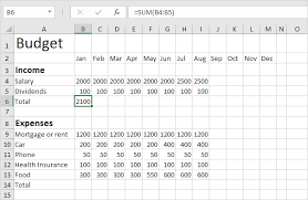 how to make a budget budget template in excel easy excel tutorial
