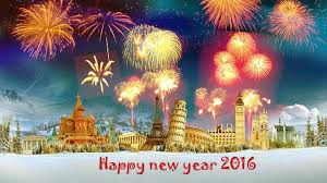 happy new year 2016 with fireworks. Brilliant New Happy New Year 2016 Wallpaper With Fireworks On K