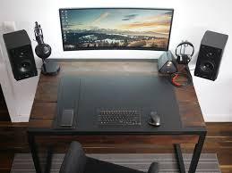 the minimal floating monitor workspace computer built into deskdesktop