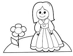 Little Girl 111 Characters Printable Coloring Pages