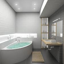 Fascinating Bathroom Design Ideas Featuring Brown Tiles Wall And - Small bathroom with tub