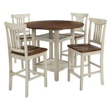Osp Home Furnishings Berkley 5 Piece Set Table Chairs In Antique