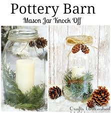Mason Jar Holiday Decorations Pottery Barn Inspired Mason Jar Vase 24